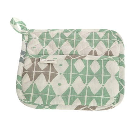 Iris Hantverk Potholder Square 50 Frosty Green