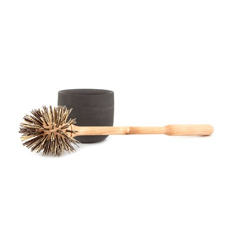 Toilet Brush Dark Grey Cup